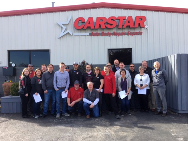 CARSTAR Edge team outside a location