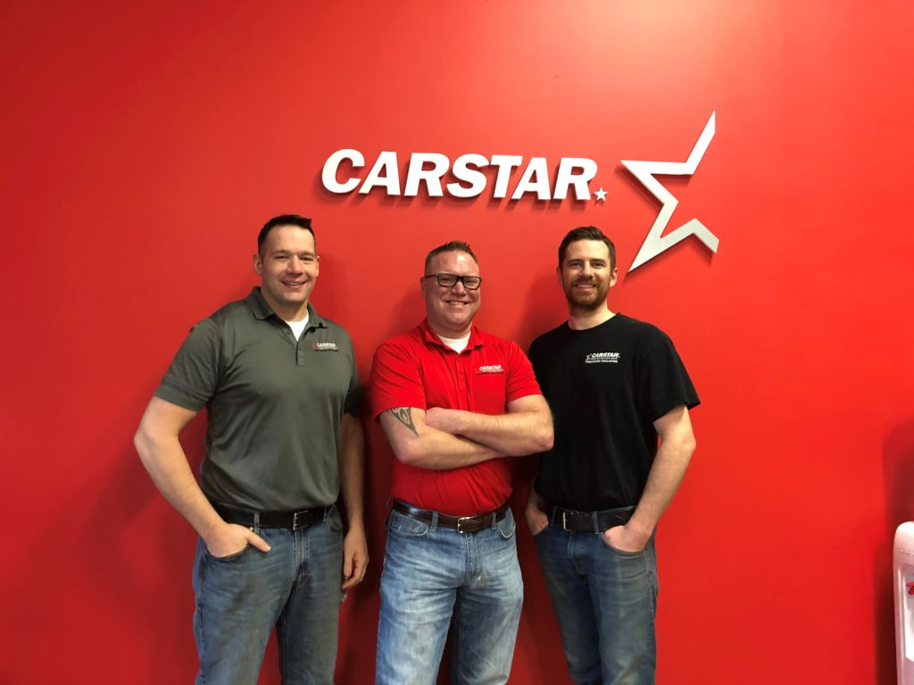 CARSTAR Precision Collision Auto Body (Owners from left to right Erik Gebault, Gary Spychala and Mark Seidenstricker )